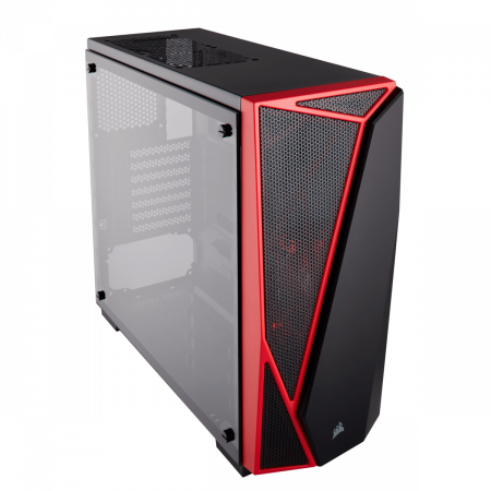 Carcasa Carbide Series SPEC-04 Tempered Glass Mid-Tower  — Black/Red0