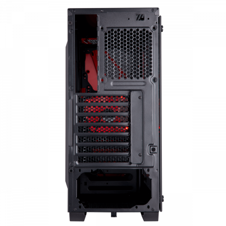 Carcasa Carbide Series SPEC-04 Tempered Glass Mid-Tower  — Black/Red3