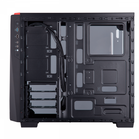 Carcasa Carbide Series SPEC-04 Tempered Glass Mid-Tower  — Black/Red4