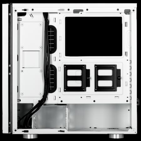 Carcasa Carbide SPEC-06 RGB Tempered Glass Alba [9]