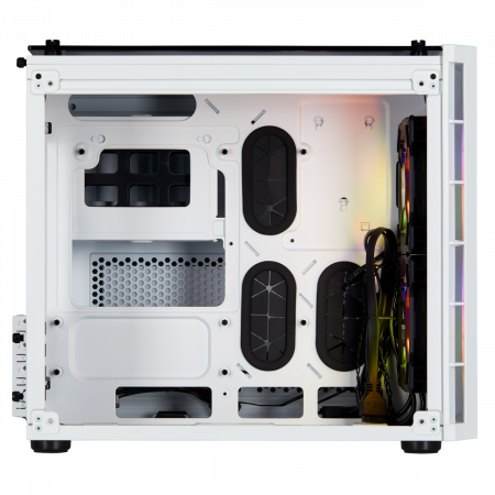 Carcasa Crystal Series 280X RGB Tempered Glass Micro ATX  — Alb2