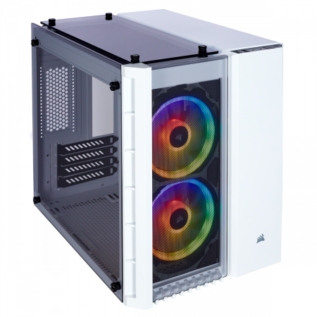 Carcasa Crystal Series 280X RGB Tempered Glass Micro ATX  — Alb0
