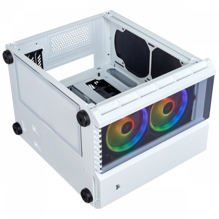 Carcasa Crystal Series 280X RGB Tempered Glass Micro ATX  — Alb11