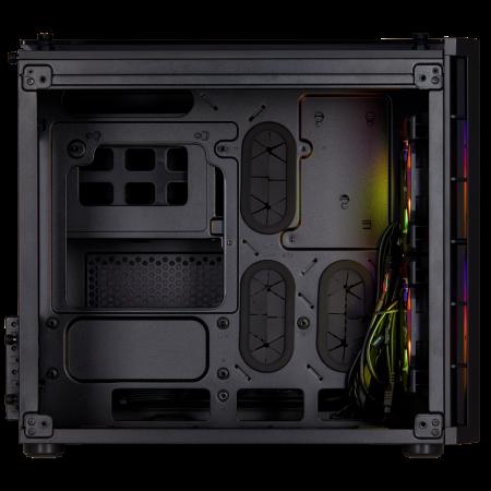 Carcasa Crystal Series 280X RGB Tempered Glass Micro ATX  — Negru [2]