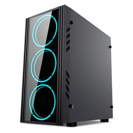 Sistem Gaming Green, Intel Core i5-10400F 2.9GHz, 8GB DDR4, SSD 240GB SATA III, RX 560 4GB, iluminare RGB [2]