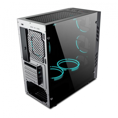 Sistem Gaming Green, Intel Core i5-10400F 2.9GHz, 8GB DDR4, SSD 240GB SATA III, RX 560 4GB, iluminare RGB [3]