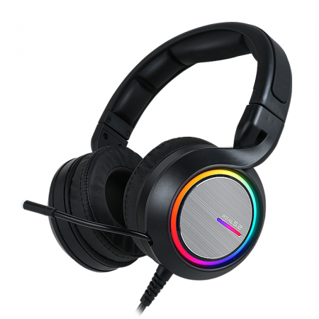 Casti gaming ABKONCORE B1000R REAL5.2, microfon, vibratii, USB, negru [0]