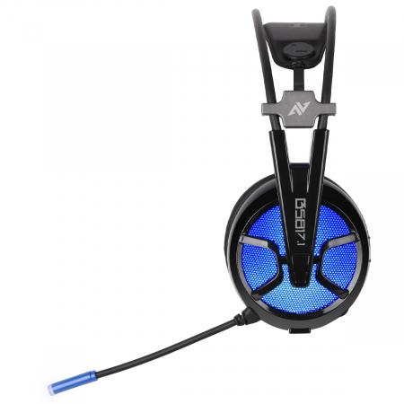 Casti gaming ABKONCORE B581 VIRTUAL 7.1, microfon, USB, negru [2]