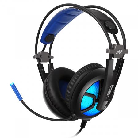 Casti gaming ABKONCORE B581 VIRTUAL 7.1, microfon, USB, negru [0]