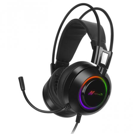 Casti gaming ABKONCORE B780 VIRTUAL 7.1, microfon, vibratii, USB, negru0