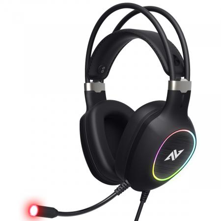 Casti gaming ABKONCORE CH55 VIRTUAL 7.1, microfon, vibratii, USB, negru [1]