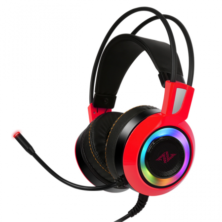 Casti gaming ABKONCORE CH60 Real 7.1, microfon, vibratii, USB, negru [3]