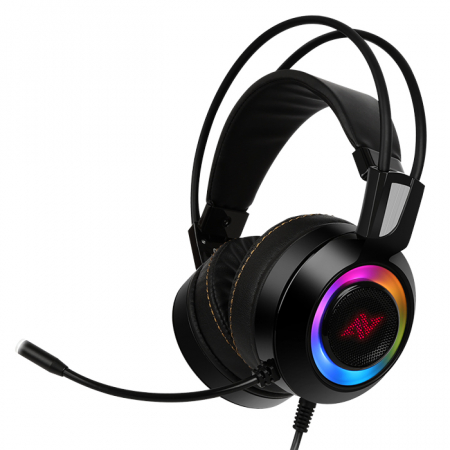 Casti gaming ABKONCORE CH60 Real 7.1, microfon, vibratii, USB, negru [0]