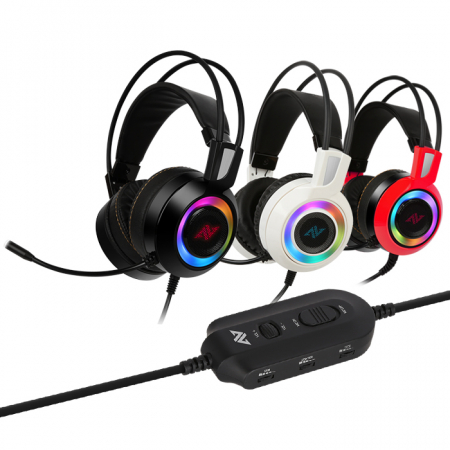Casti gaming ABKONCORE CH60 Real 7.1, microfon, vibratii, USB, negru1