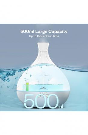 Difuzor aroma terapie Anjou AJ-AD012, 500ml, LED, auto oprire7