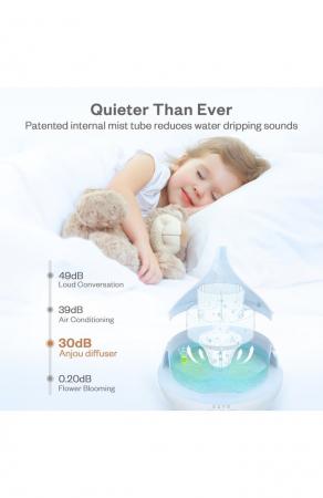 Difuzor aroma terapie Anjou AJ-AD012, 500ml, LED, auto oprire6