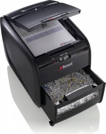 Distrugator Automat documente REXEL Auto+ 60X, 60 coli, P3, cross-cut (confeti)1