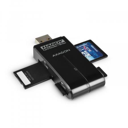 External HANDY Card Reader 4-slot SD/MicroSD/MS/M2, Black [7]