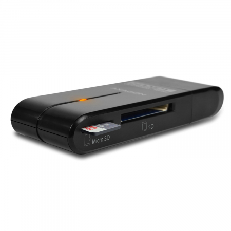 External HANDY Card Reader 4-slot SD/MicroSD/MS/M2, Black [8]