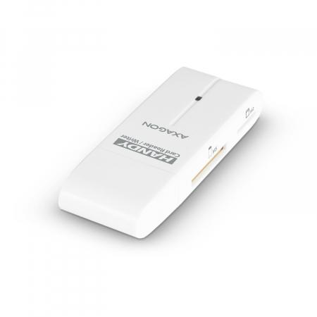 External HANDY Card Reader 4-slot SD/MicroSD/MS/M2, White [13]
