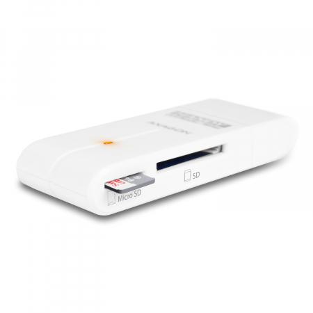 External HANDY Card Reader 4-slot SD/MicroSD/MS/M2, White [17]