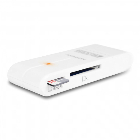 External HANDY Card Reader 4-slot SD/MicroSD/MS/M2, White [8]