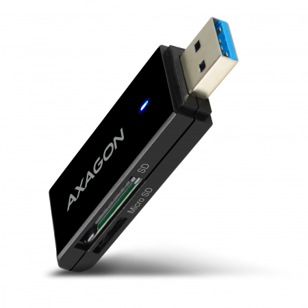 External USB 3.0, 2-slot SD/microSD [1]