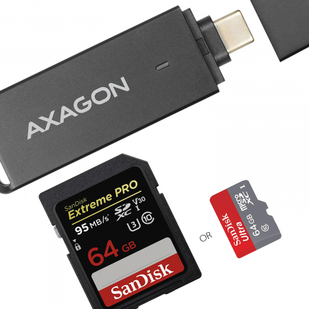 External USB 3.1 Type-C SLIM 2-slot SD/microSD [19]