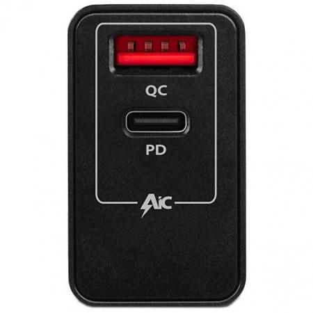 Incarcator retea Axagon Dual USB 5V 3A + 1x Quick Charge3.0, 22W, Negru1
