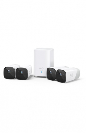 Kit supraveghere video eufyCam 2 Security wireless, HD 1080p, IP67, Nightvision, 4 camere video0