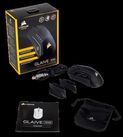 Mouse Corsair GLAIVE gaming RGB LED, 16000 DPI9