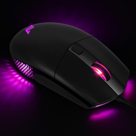 Mouse gaming ABKONCORE A660, 10000DPI, RGB, negru [2]