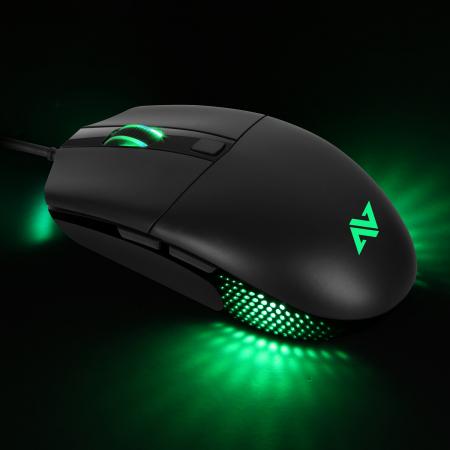 Mouse gaming ABKONCORE A660, 10000DPI, RGB, negru [3]