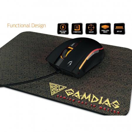 Mouse gaming Gamdias Zeus E2 ilumanare RGB negru + Nyx E1 [3]