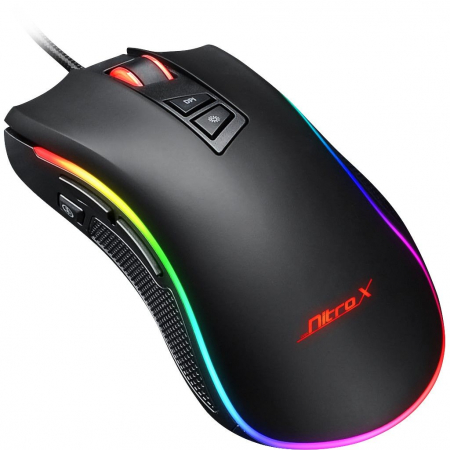 Mouse gaming GT-300+ negru iluminare RGB [1]