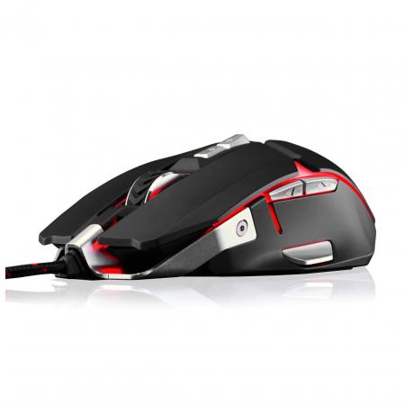 Mouse gaming Riotoro Aurox negru iluminare RGB [1]