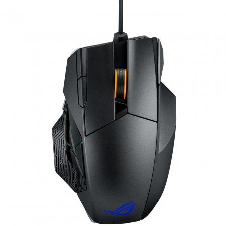 Mouse gaming wireless si cu fir Asus ROG Spahta negru [1]