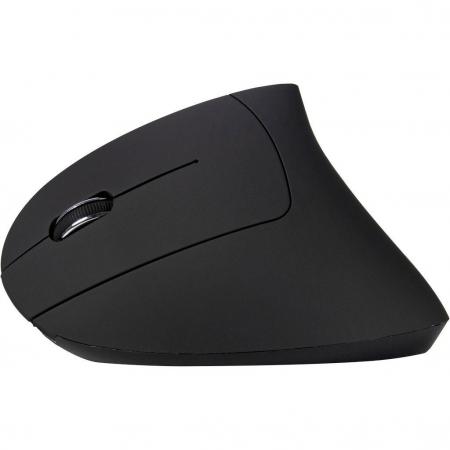 Mouse vertical wireless Inter-Tech Eterno KM-206L negru pentru stangaci [2]