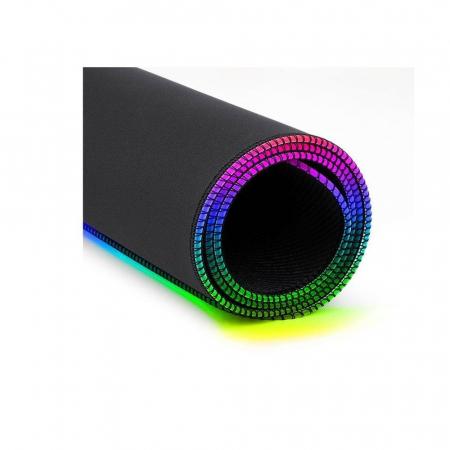 Mousepad gaming Redragon Neptune negru iluminare RGB [3]