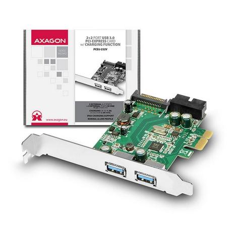 PCIe Adapter 2+2x USB3.0 UASP VIA + LP [1]