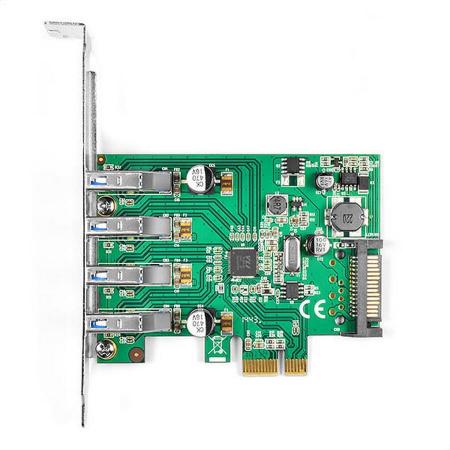 PCIe Adapter 4x USB3.0 UASP VIA + LP [1]