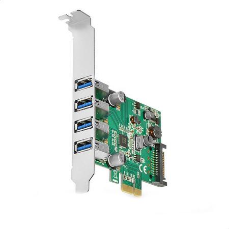 PCIe Adapter 4x USB3.0 UASP VIA + LP [0]