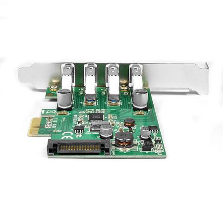 PCIe Adapter 4x USB3.0 UASP VIA + LP [2]