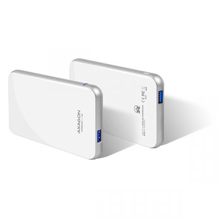 Rack extern Axagon EE25-S6, Conexiune USB 3.0, compatibil cu HDD/SSD de 2.5 inch SATA , 6 Gbit/s, Alb, Toolless [0]