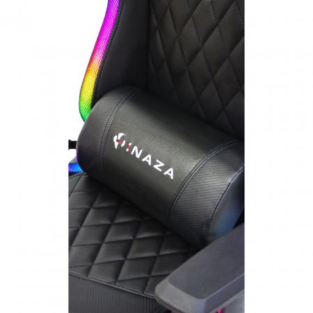 Scaun gaming Inaza Rainbow, Iluminare RGB, Negru [2]