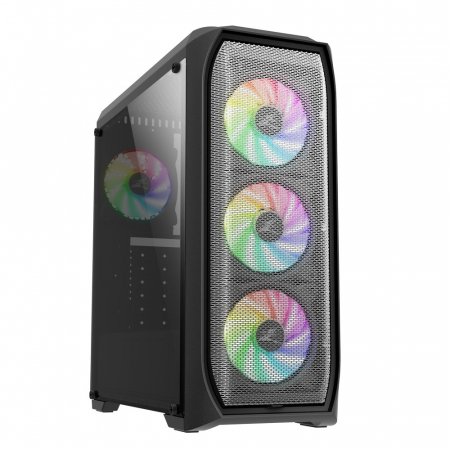 Sistem Gaming N5 V3, AMD Ryzen 5 2600 3.9GHz, 16GB DDR4, SSD 240GB + 1TB HDD, GTX 1650 4GB GDDR6, iluminare RGB0