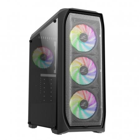 Sistem Gaming N5 V5, AMD Ryzen 5 2600 3.9GHz, 16GB DDR4, SSD 240GB + 1TB HDD, GTX 1650 4GB GDDR6, iluminare RGB0