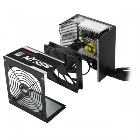 Sursa ABKONCORE Mighty 500W Real Power, PFC activ, ventilator, 120mm, 80 Plus3