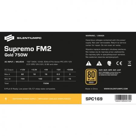 Sursa SILENTIUM PC Supremo FM2 Gold Series, 650W, 80 PLUS Gold [9]