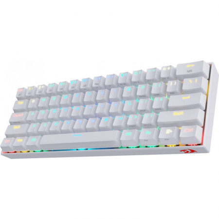 Tastatura gaming mecanica Redragon Draconic, format 60%, iluminare RGB, Bluetooth, USB-C, switch-uri Outemu Brown, Alb [2]